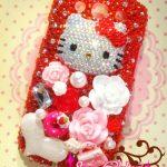 hello kittyli cep telefonu kılıfı