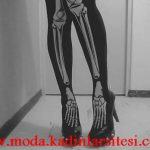 iskelet figürlü mus çorap modeli