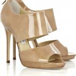 jimmy choo bej rugan ayakkabı modeli