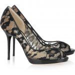 jimmy choo dantelli ayakkabı modeli