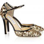 jimmy choo dore payetli ayakkabı modeli