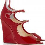 jimmy choo kımızı dolgu topuk ayakkabı modeli