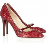 jimmy choo kırmızı simli ayakkabı modeli