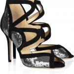 jimmy choo lame payetli ayakkabı modeli