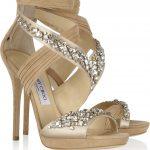 jimmy choo taşlı ayakkabı modeli