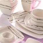 kütahya porselen beyaz şık kahvaltı takımı