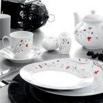 kütahya porselen kelebekli kahvaltı takımı