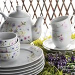 kütahya porselen renkli çiçekli kahvaltı takımı