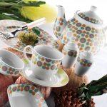 kütahya porselen renkli kahvaltı takımı