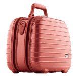 kırmızı çift fermuarlı makyaj çantası