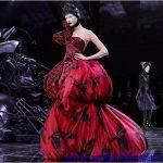 kırmızı bakon etek gece elbisesi modeli