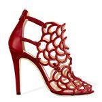 kırmızı deri ayakkabı modeli