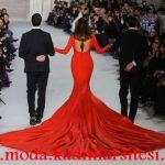 kırmızı en güzel gece elbisesi modeli