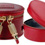 kırmızı sıra dışı deri makyaj çantaları