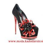 kırmızı siyah ayakkabı modeli
