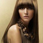 kaküllü düz fön saç modeli