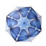 kelebek detaylı mavi şemsiye modeli