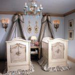 klasik ikiz bebek odası modeli