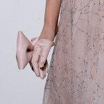 krem deri fiyonklu eldiven modeli