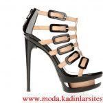 krem kahve tokalı ayakkabı modeli