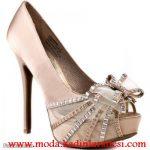 krem tüllü ayakkabı modeli