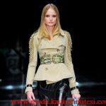 krem zımbalı ceket modeli
