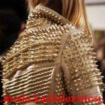 krem zımbalı deri ceket modeli