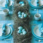 kuş temalı tabak dekorasyon modeli