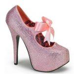 kurdela detaylı pembe ayakkabı modeli yeni