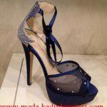 laci saten tül ayakkabı modeli