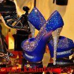 lacivert taşlı ayakkabı modeli