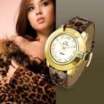 leopar desen kayışlı saat
