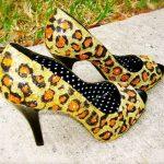 leopar desenli ayakkabı modeli yeni