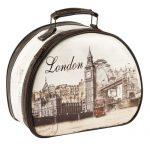londra temalı makyaj çantası yeni