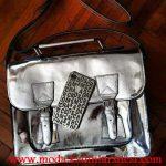 marc jacobs metalik çanta modeli