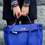 mavi kapaklı çanta modeli