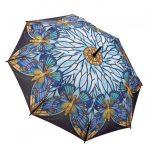 mavi kelebek figürlü şemsiye modeli