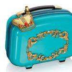 mavi taçlı makyaj çantası yeni