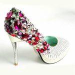 metal topuk taşlı ayakkabı yeni model