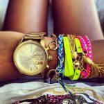 mineral camlı gold saat modeli