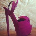 mor ayakkabı modeli