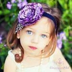 mor floral saç bandı modeli