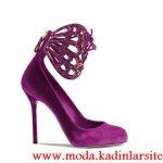 mor kelebekli ayakkabı modeli