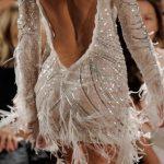otrişli işlemeli mini gece elbisesi modeli