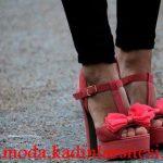 pastel nar çiçeği ayakkabı modeli