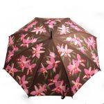pembe çiçekli şemsiye modeli