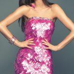 pembe mini gece elbisesi modeli