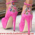 pembe nubuk ayakkabı modeli
