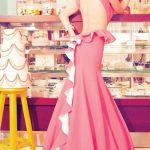 pembe ruffle gece elbisesi modeli