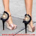 pembe siyah ayakkabı modeli